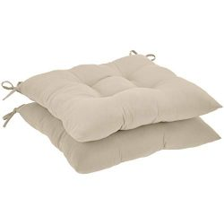 AmazonBasics Square Seat Patio Cushion, Set of 2- Tan