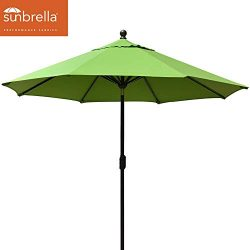 EliteShade Sunbrella 11ft Market Umbrella Patio Outdoor Table Umbrella with Ventilation (Sunbrel ...