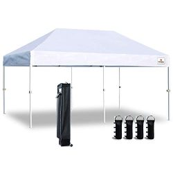 Keymaya 10'x20′ Ez Commercial Instant Tent Heavy Duty Pop-up Canopy Shelter Bonus We ...