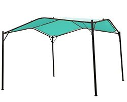 Mefo garden 12 x 12 ft Outdoor Patio Swan Gazebo Canopy for Backyard, Iron, 250gsm Polyester Can ...