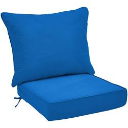 AmazonBasics Deep Seat Patio Cushion- Blue
