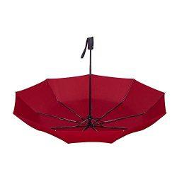 Newdora Windproof Travel Folding Golf Umbrella Auto Open Close Button and Upgraded Comfort Handl ...