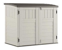 Suncast Horizontal Storage Shed – Outdoor Storage Shed for Backyards and Patios – 34 ...