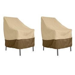 Classic Accessories Veranda High Back Dining Patio Chair Cover (2-Pack)