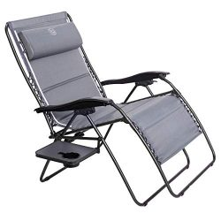 Timber Ridge Zero Gravity Patio Locking Lounge Chair Oversize XXL Padded Adjustable Recliner wit ...