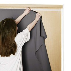 RYB HOME Blackout Curtain Liner Outdoor Sun Shades for Patio Roll Up with Sticky Top Hanging Wit ...