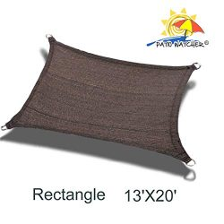 Patio Watcher 13′ x 20′ Rectangle Sun Sail Shade UV Block Shade Sail Perfect for Out ...