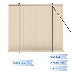E&K Sunrise Roll up Shade Roller Shade 5'Wx6'H Porch Pergola Privacy Screen Roll ...