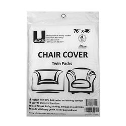 uBoxes Chair Protective Poly Covers, 72 x 46 inch, 2 Pack