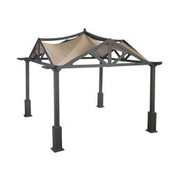 Garden Winds LCM525BREV-UGF-RS Garden Treasures Pergola Gazebo, Riplock 500 Replacement Canopy,  ...