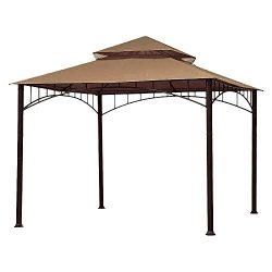ABCCANOPY Replacement 10'X10′ Summer Canopy Soft Top Gazebo Beige with Rip Lock Tech ...