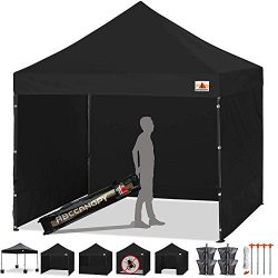 ABCCANOPY Deluxe 10×10 Easy Pop Up Canopy Carnival Canopy Popcorn Cotton Candy Vending Tent