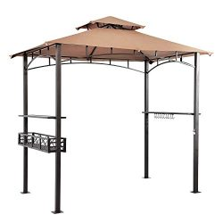 Suna Outdoor Grill Gazebo 8 x 5 Ft, Outdoor Patio Barbecue Grill Gazebo BBQ Shelter Tent, Double ...