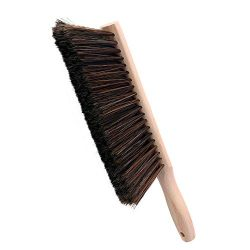 Huibot Bristle Brush with Oiled Beech Wood Handle Soft Hand Broom 14 Inch Long (Black)