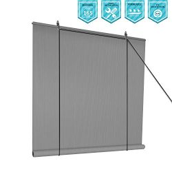 Coarbor Outdoor Roll up Shades Blinds for Porch Patio Shade Exterior Roller Shade Privacy Shade  ...