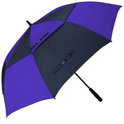 G4Free Golf Umbrella Extra Large 54 Inch Windproof Oversize Automatic Double Canopy Vented Water ...