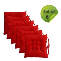 Comfy Soft Non Slip Chair Pads Seat Cushions Cover with Ties for Dining Chairs, Office Chairs, S ...