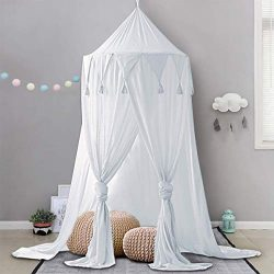 Dix-Rainbow Bed Canopy Lace Mosquito Net Unique Pendant Play Tent Bedding for Kids Playing Readi ...