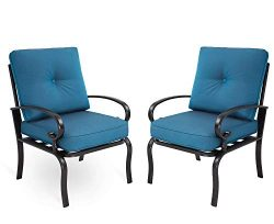 Incbruce Outdoor Furniture Bistro Set Dining Chairs Set of 2 Patio Club Chairs Outdoor Wrought I ...