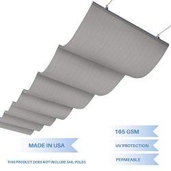 E&K Sunrise 4'Wx16'L Light Grey Retractable Pergola Canopy Shade Cover Slide on  ...