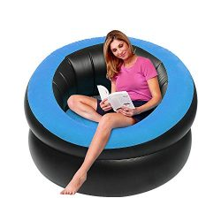 LetsFunny Inflatable Lounge Chair, Portable Inflatable Sofa Camping Chair Seats for Camping, Hik ...
