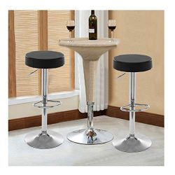 Iusun 2PC Chair Bar Stools Leather Adjustment Height Office Seat Salon Cushion Seat for Beauty W ...