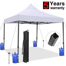 Tentking 10×10 Ez Pop-up Canopy Tent, Commercial Instant Sun Shelter Canopies Tent, Bonus W ...