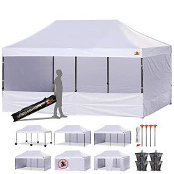 ABCCANOPY Canopy Tent 10 x 20 Pop Up Canopies Commercial Tents Market stall with 4 Removable Sid ...