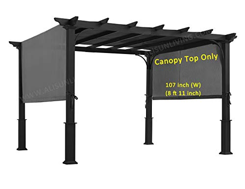 ALISUN Sling Canopy (with Ties) for 10 FT Pergola #S-J-110 ...