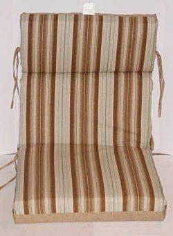 (6) Outdoor Hi-Back Reversible Chair Cushions ~ Cuban Sand ~ 21 x 44 x 4 New