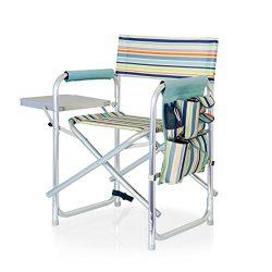 ONIVA – a Picnic Time brand Portable Folding Sports Chair, St. Tropez Stripe