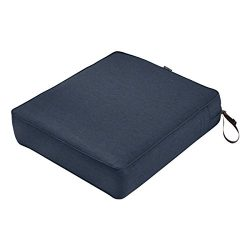 Classic Accessories Montlake Patio FadeSafe Seat Cushion, Indigo 23″Wx25″Dx5″T