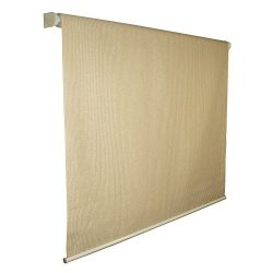 Coolaroo Exterior Roller Shade, Cordless Roller Shade with 90% UV Protection, No Valance, (4&#82 ...