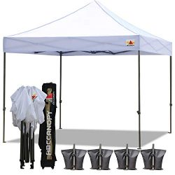 ABCCANOPY Canopy Tent 10 x 10 Pop Up Canopies Commercial Tents Market stall with 4 Removable Sid ...