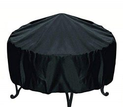 RUICHENXI Round Fire Pit Cover Waterproof & Weather Resistant Protective Garden Patio Outdoo ...