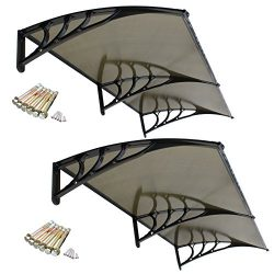 Super Deal 2PCS 40″x 80″ Overhead Door Window Outdoor Awning Door Canopy Patio Cover ...