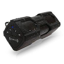 Waterproof Sport Bluetooth Speaker,Freegoing Outdoor Portable Wireless Bass Subwoofer Sound Spea ...