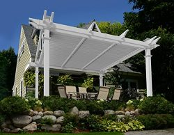 Camelot 12′ x 12′ Adjustable Louvered Vinyl Pergola