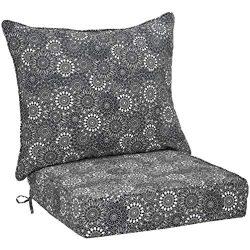 AmazonBasics Deep Seat Patio Cushion- Black Floral