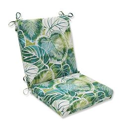 Pillow Perfect Outdoor/Indoor Key Cove Lagoon Squared Corners Chair Cushion