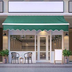JOO LIFE Manual Patio Retractable Awning Window/Door Sun Shade Shelter Outdoor Canopy Deck Awnin ...