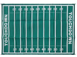 Camco American Football Field Design Large Outdoor/Patio Rug Perfect for Camping Hiking, Rving,  ...