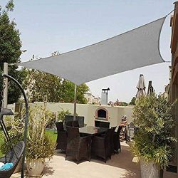 Shade&Beyond 8'x10′ Sun Shade Sail Rectangle Canopy Sail Sunshade UV Block for P ...