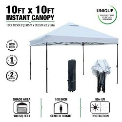 kdgarden 10 ft. x 10 ft. Easy Pop Up Canopy Tent Portable Folding Canopy Outdoor Commercial Inst ...