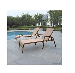 Sand Dune Chaise Lounges, Tan, Set of 2 Put These Chaise Louge Chairs By the Pool and Enjoy Your ...