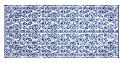Camco 42841 Swirl Awning Leisure Mat-Blue 8′ X 16′