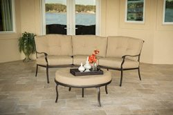 Hanover TRADITIONS2PC 2-Piece Traditions Deep Cushion Lounge Set, Natural Oat/Antique Bronze Out ...