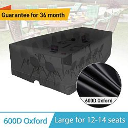 "KINGDOWAY 137"" Outdoor Patio Furniture Covers Waterproof 600D Oxford Polyester Durable Wat ..."