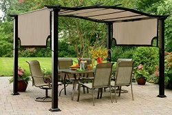 The Outdoor Patio Store Kmart Essential Garden Curved Pergola Canopy – High Grade 300D