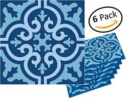 Planet Ethnic Soft PVC Moroccan Tile Designer Coaster Set (6 Coasters). 4 inch X 4 inch square d ...